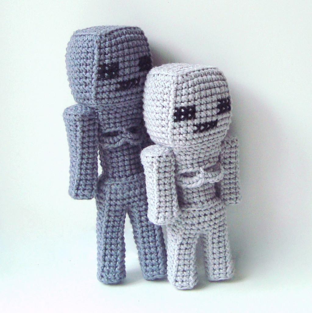 Скелет и Скелет-иссушитель, фото, картинка, схема, описание, бесплатно, крючком, амигуруми