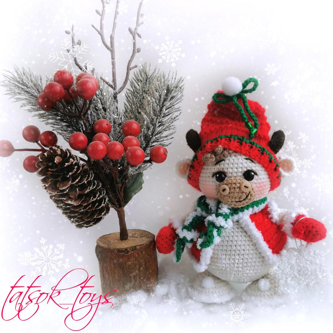 Снегобык, фото, картинка, схема, описание, бесплатно, крючком, амигуруми