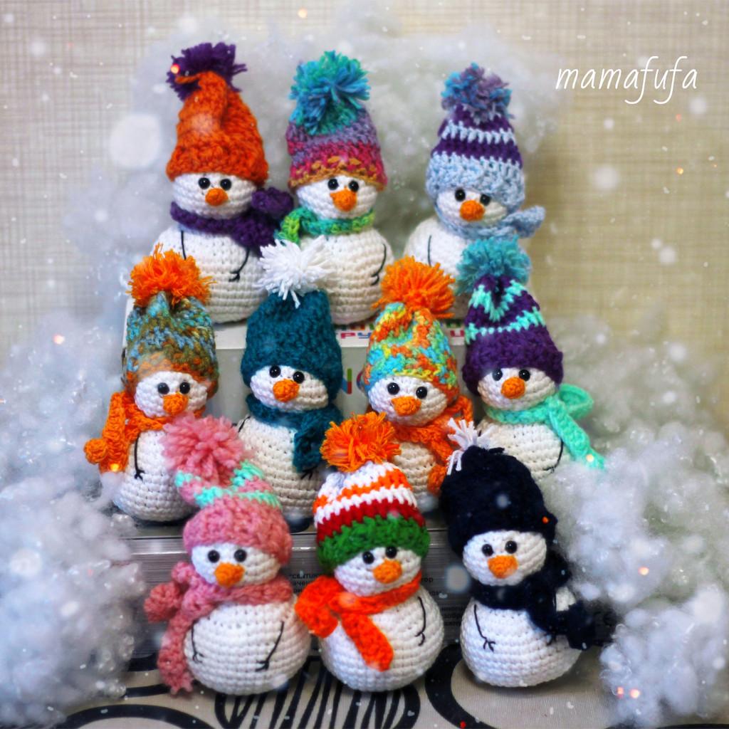 Снеговички, фото, картинка, схема, описание, бесплатно, крючком, амигуруми