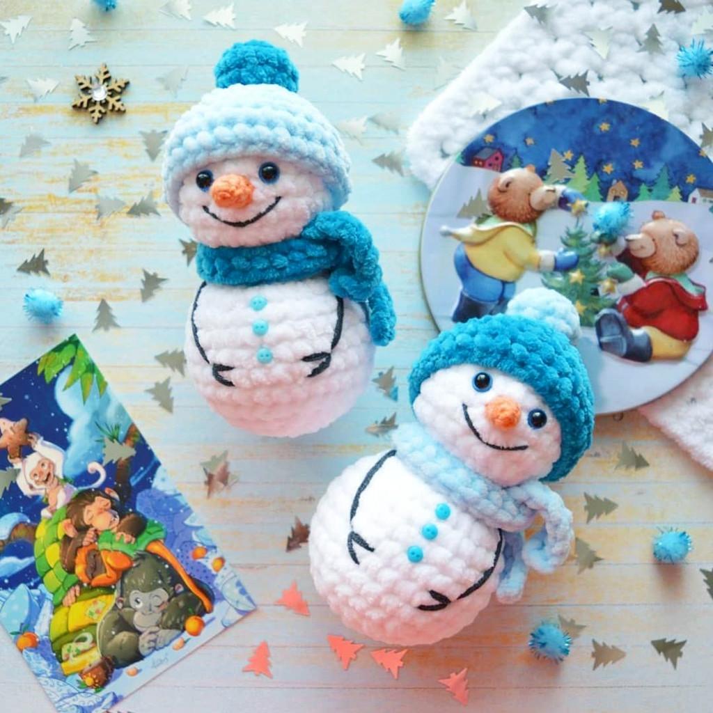 Снеговички Дружочки, фото, картинка, схема, описание, бесплатно, крючком, амигуруми