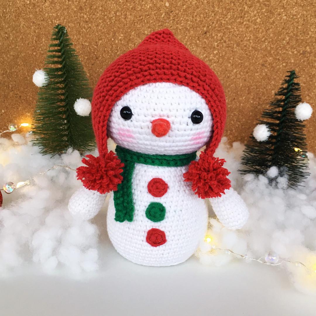 Схема Снеговик крючком