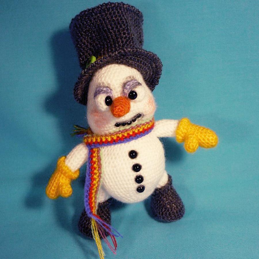 Снеговик Хруст, фото, картинка, схема, описание, бесплатно, крючком, амигуруми