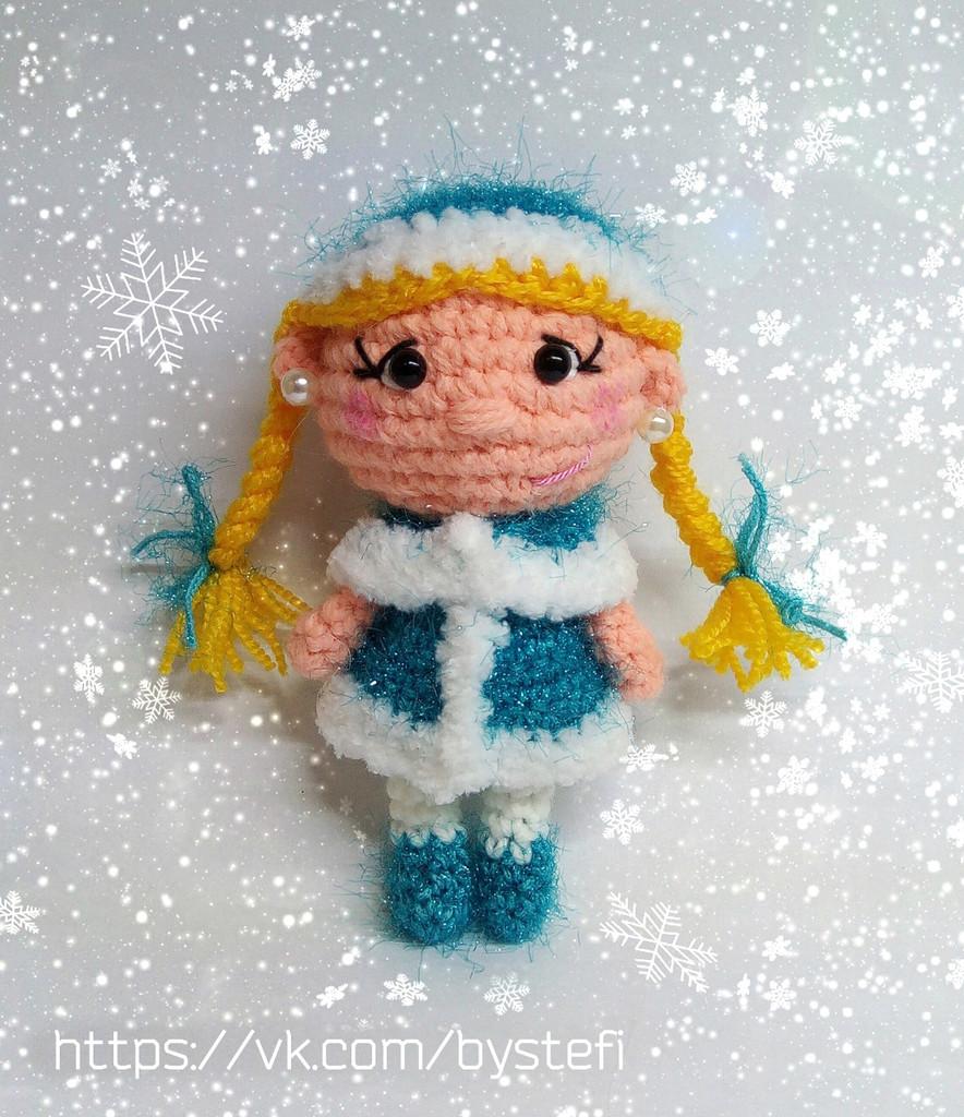 Снегурочка, фото, картинка, схема, описание, бесплатно, крючком, амигуруми
