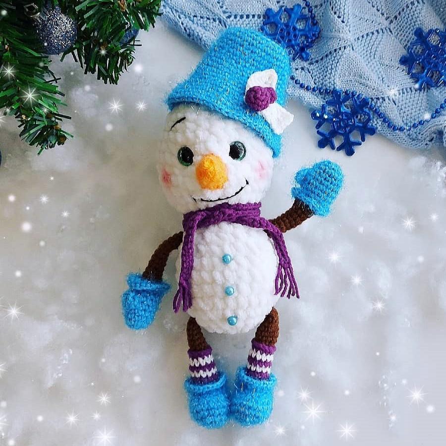 Снежик, фото, картинка, схема, описание, бесплатно, крючком, амигуруми