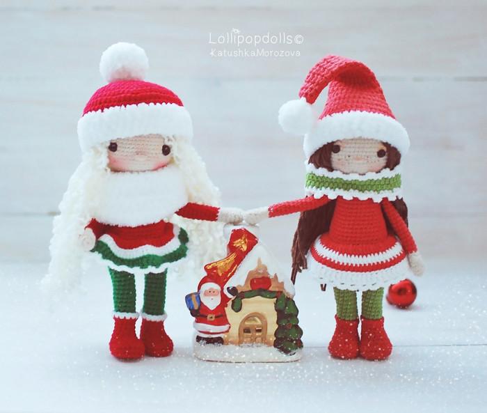 Снежные девчонки, фото, картинка, схема, описание, бесплатно, крючком, амигуруми