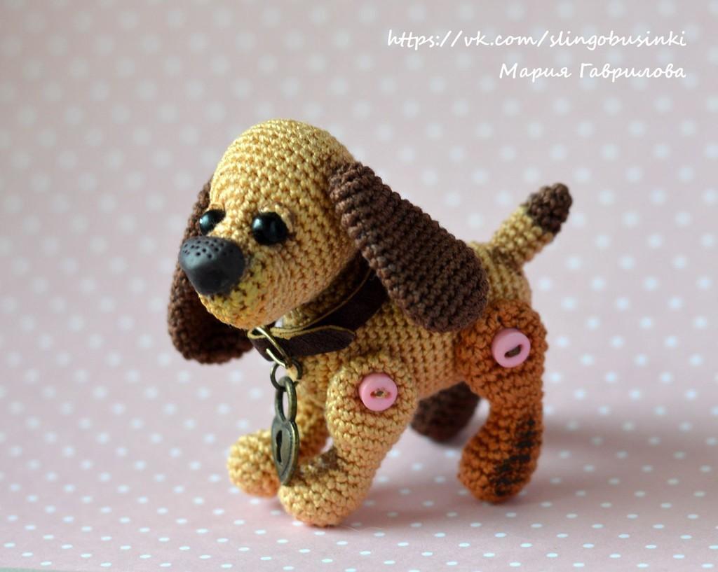 Собачка Бусинка, фото, картинка, схема, описание, бесплатно, крючком, амигуруми