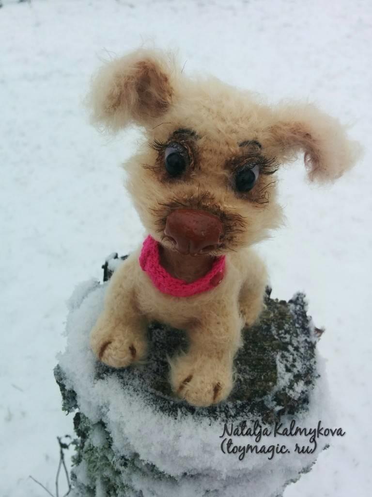 Собачка Клёпочка, фото, картинка, схема, описание, бесплатно, крючком, амигуруми