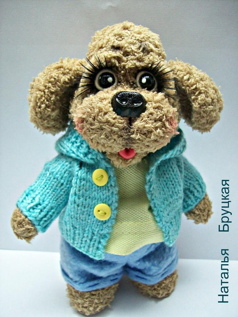 Собачка толстощёк Джерри, фото, картинка, схема, описание, бесплатно, крючком, амигуруми