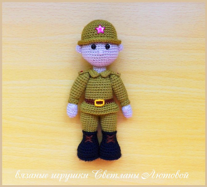 Солдат, фото, картинка, схема, описание, бесплатно, крючком, амигуруми
