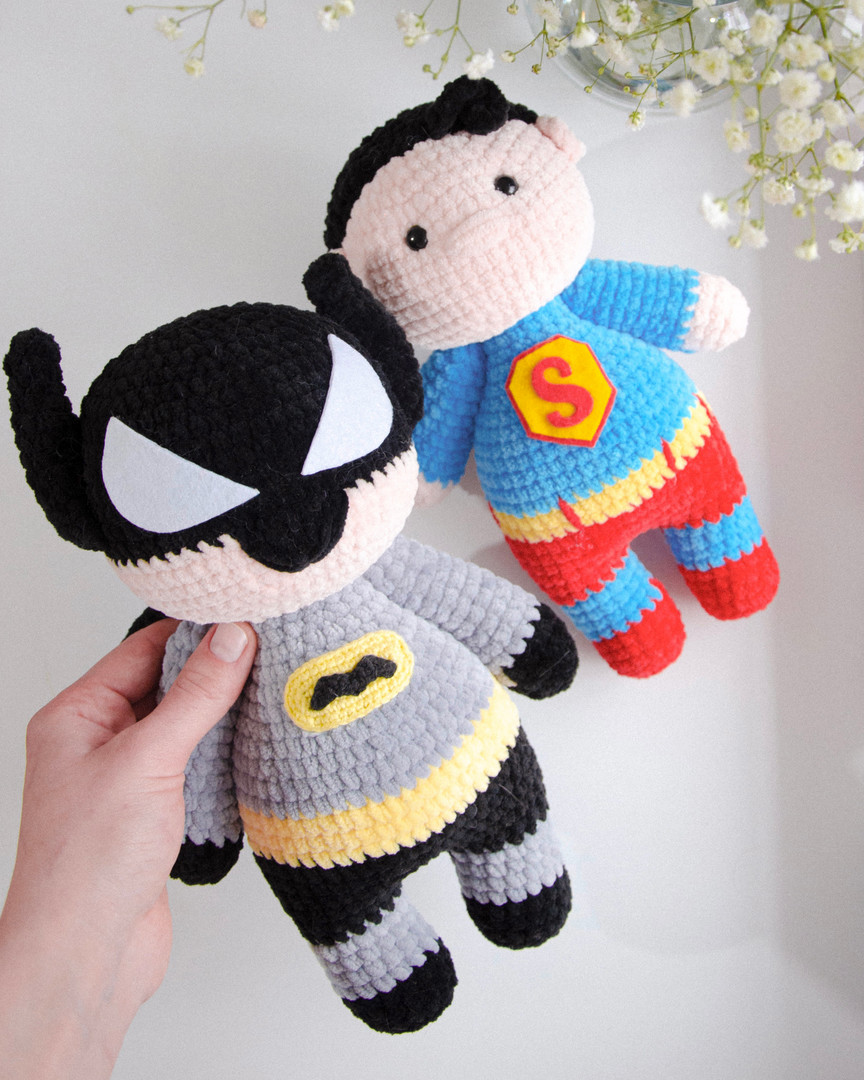 Супергерои, фото, картинка, схема, описание, бесплатно, крючком, амигуруми