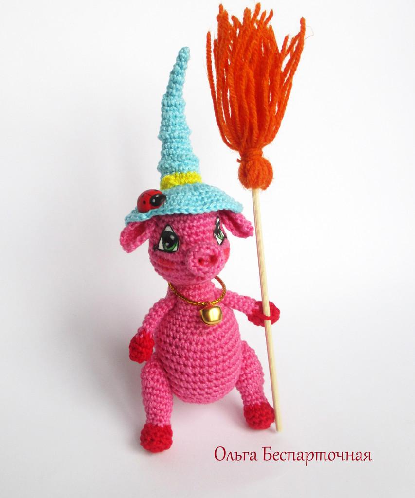 Свинка Алинка, фото, картинка, схема, описание, бесплатно, крючком, амигуруми