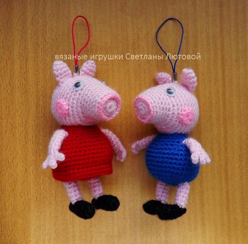 Свинка Пеппа и Джордж, фото, картинка, схема, описание, бесплатно, крючком, амигуруми