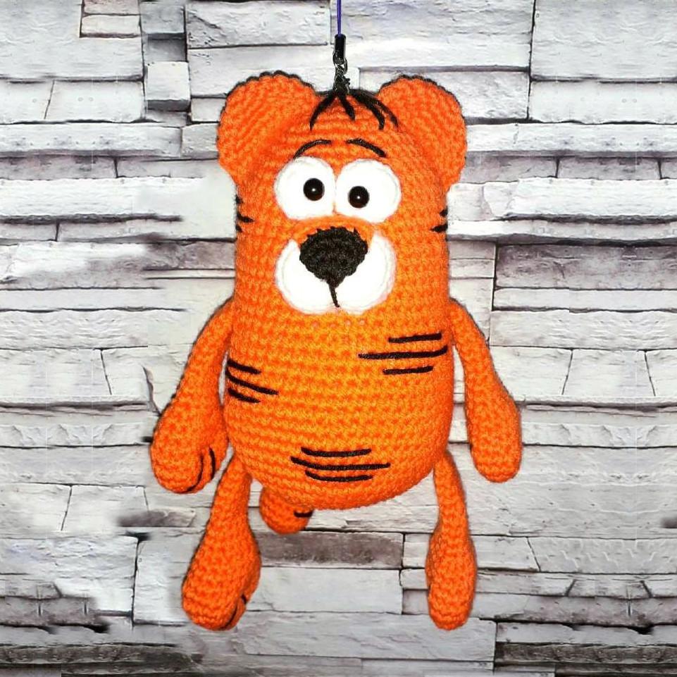 Тигр Апельсинчик, фото, картинка, схема, описание, бесплатно, крючком, амигуруми