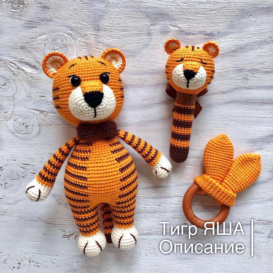 Тигр Яша, фото, картинка, схема, описание, бесплатно, крючком, амигуруми