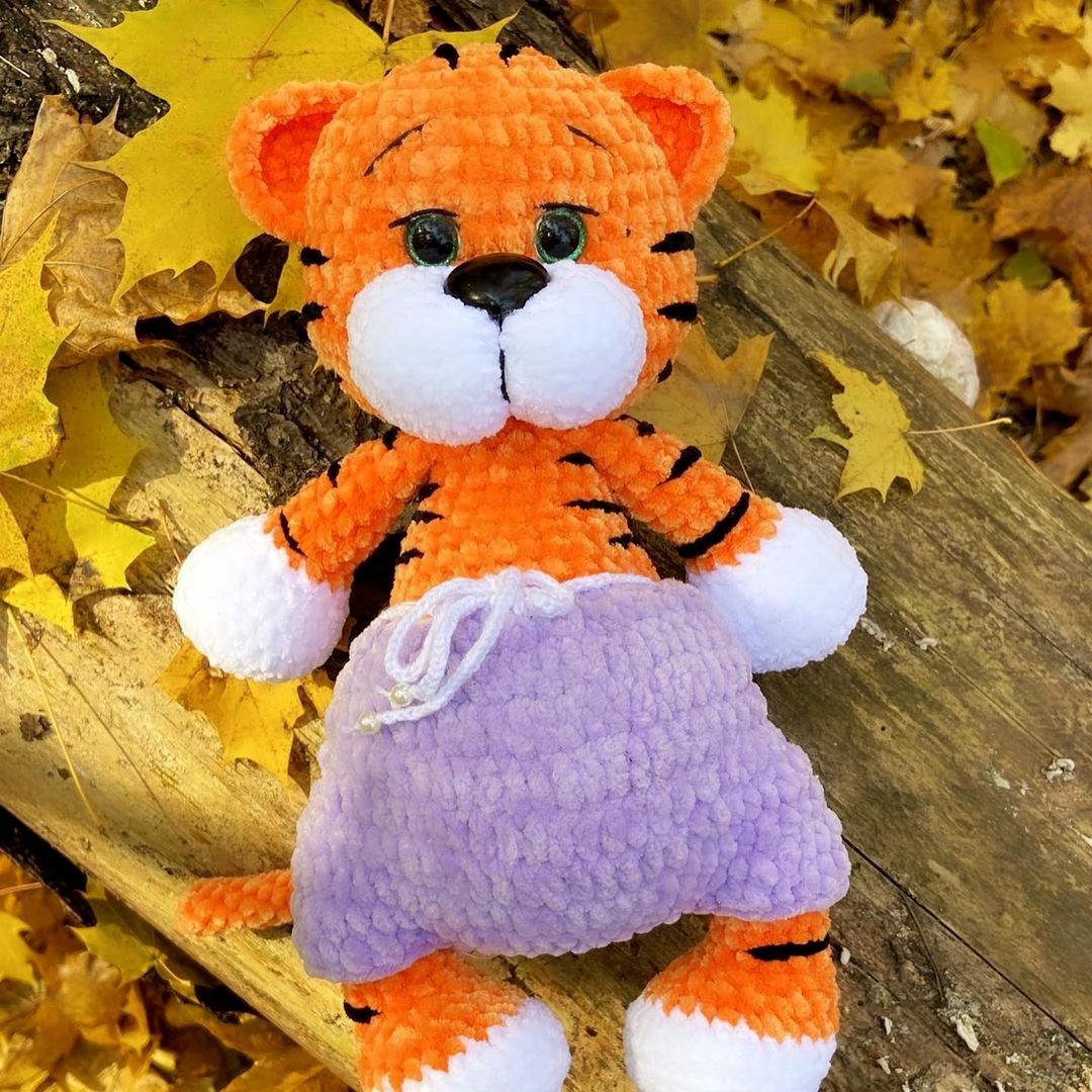 """Тигр """"Рокки"""", фото, картинка, схема, описание, бесплатно, крючком, амигуруми"""