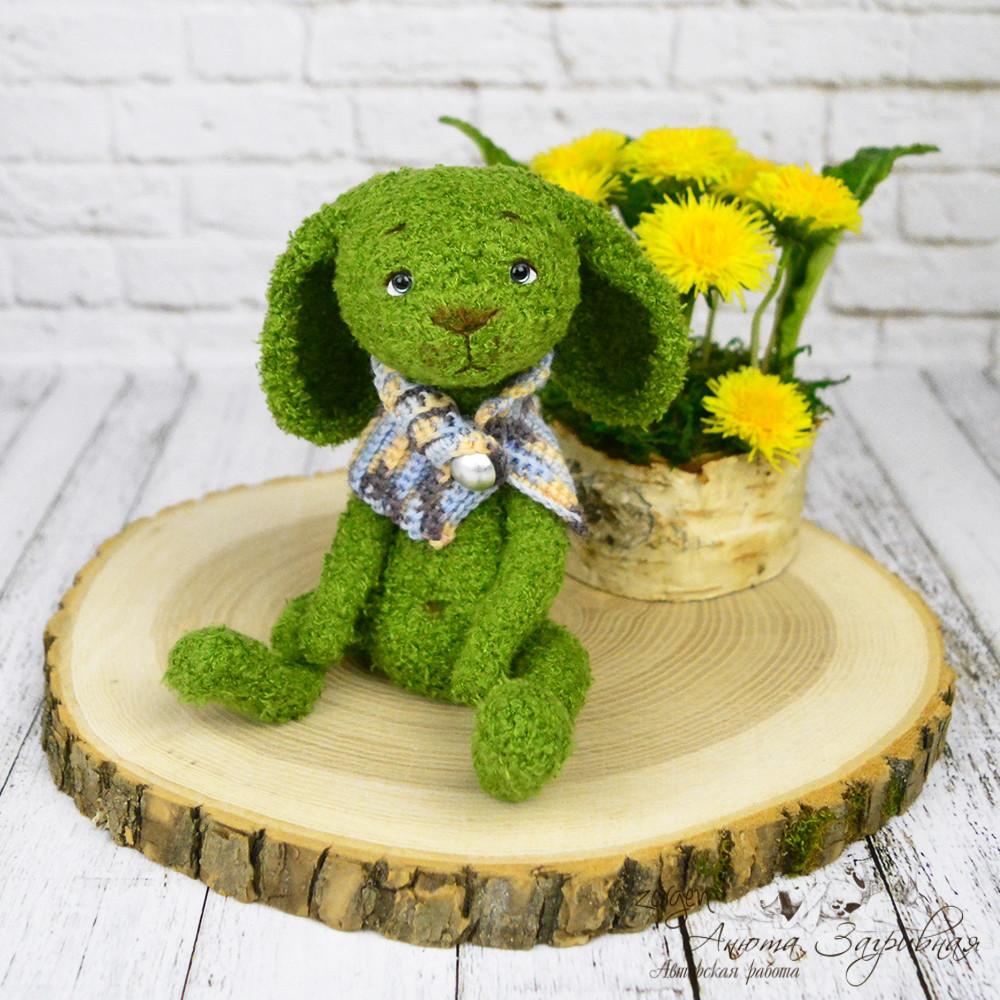 Травяной зайчик Кнопа, фото, картинка, схема, описание, бесплатно, крючком, амигуруми