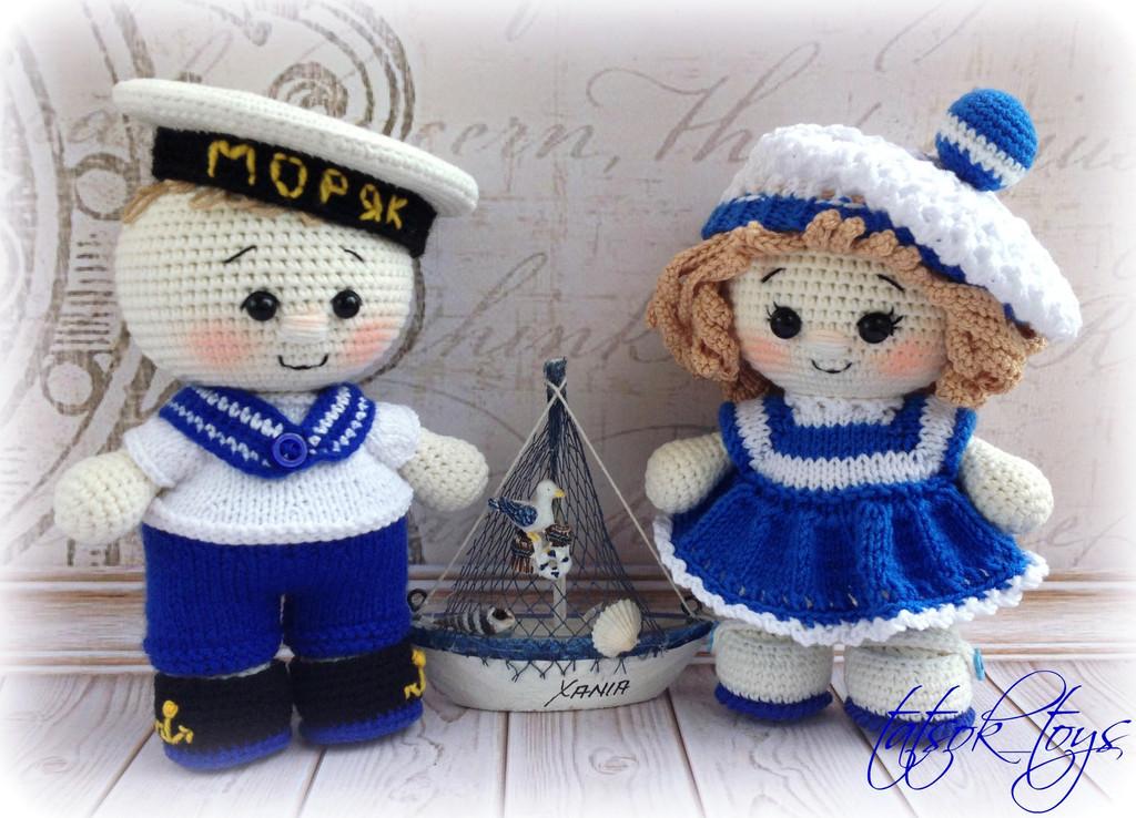 Ты - морячка, я - моряк, фото, картинка, схема, описание, бесплатно, крючком, амигуруми