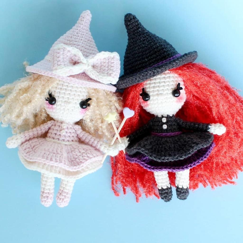 Ведьмочка, фото, картинка, схема, описание, бесплатно, крючком, амигуруми