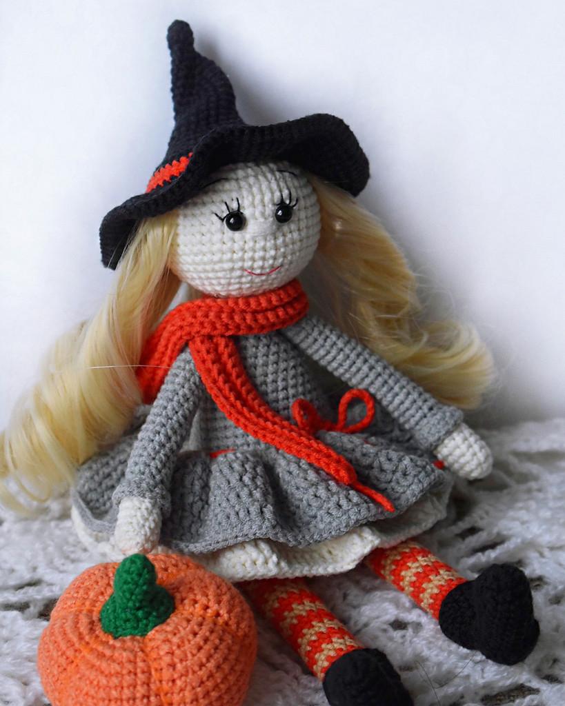 Ведьмочка Хлоя, фото, картинка, схема, описание, бесплатно, крючком, амигуруми