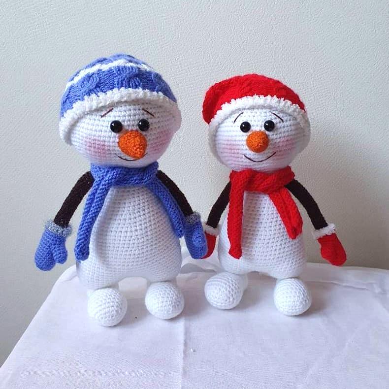 Весёлый снеговик, фото, картинка, схема, описание, бесплатно, крючком, амигуруми