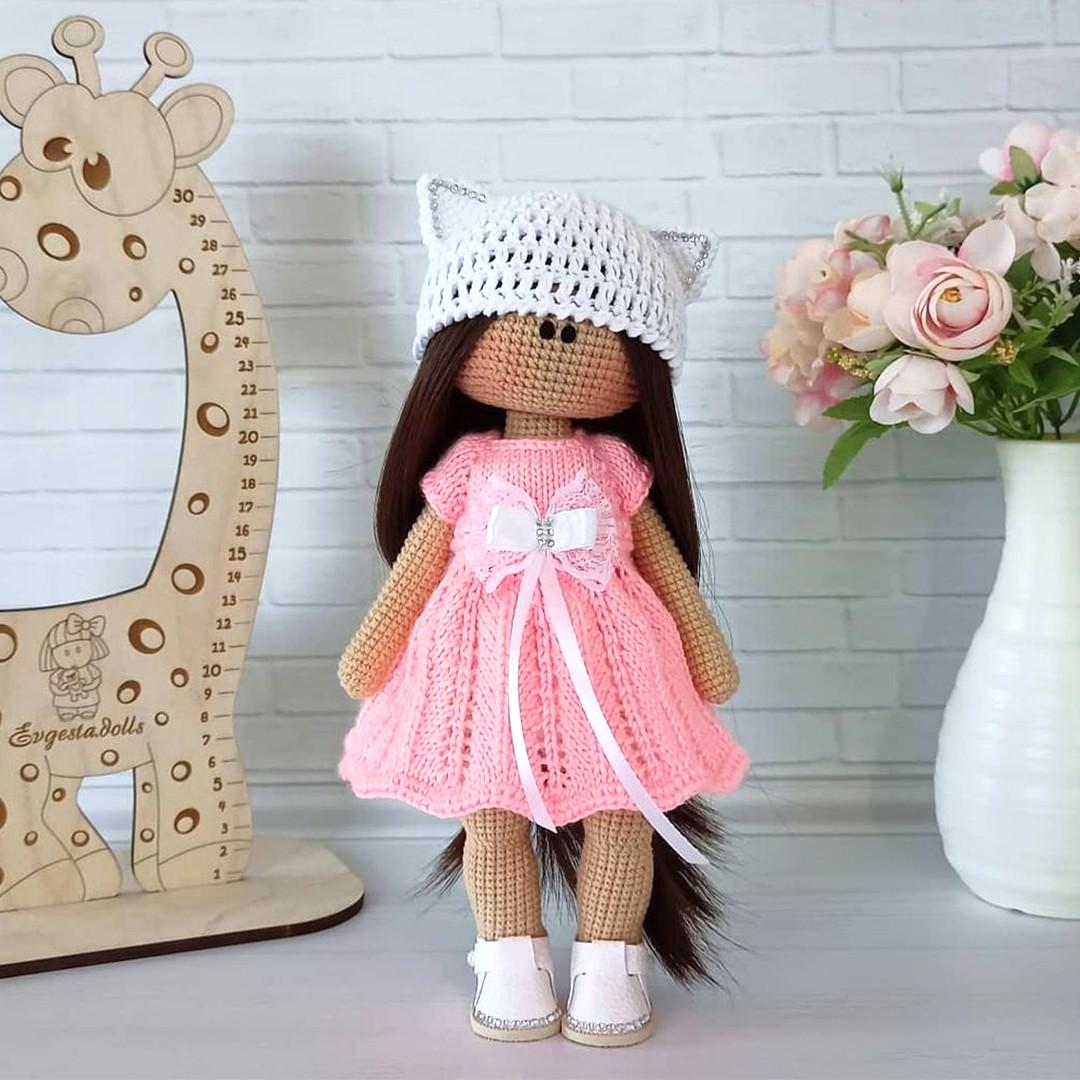 Вязаная кукла, фото, картинка, схема, описание, бесплатно, крючком, амигуруми