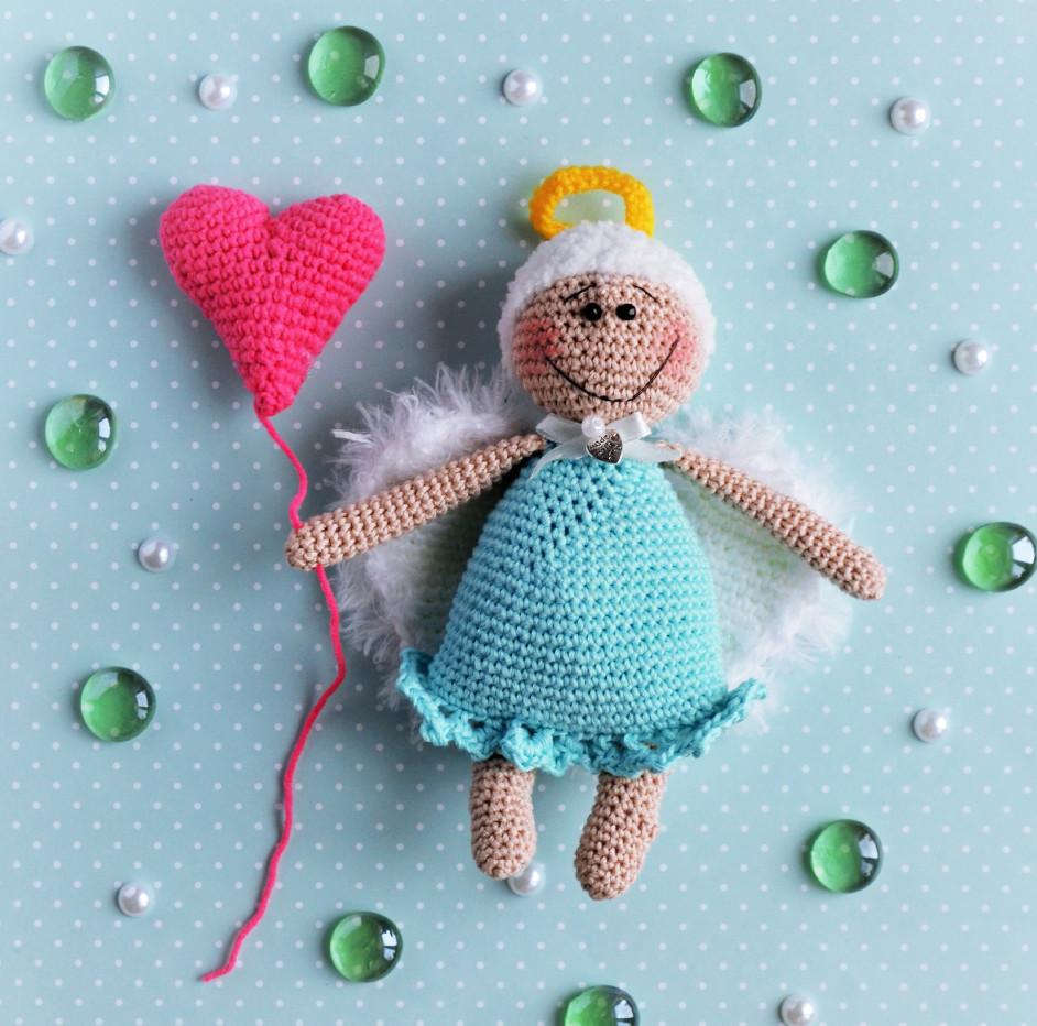 Влюблённый ангелок, фото, картинка, схема, описание, бесплатно, крючком, амигуруми