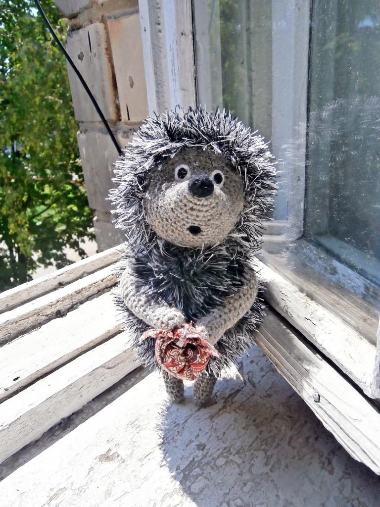 Ёжик из тумана, фото, картинка, схема, описание, бесплатно, крючком, амигуруми