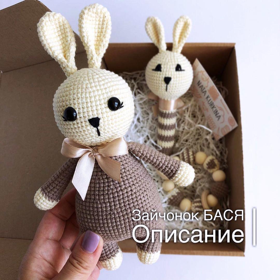 Зайчонок Бася, фото, картинка, схема, описание, бесплатно, крючком, амигуруми