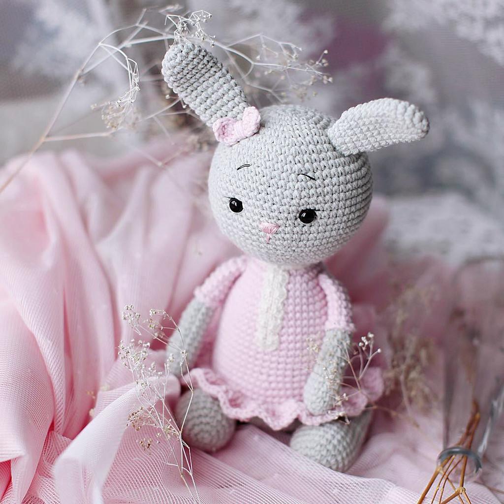 Зайка для малышей, фото, картинка, схема, описание, бесплатно, крючком, амигуруми