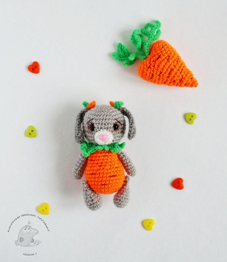 Зайка-морковочка, фото, картинка, схема, описание, бесплатно, крючком, амигуруми