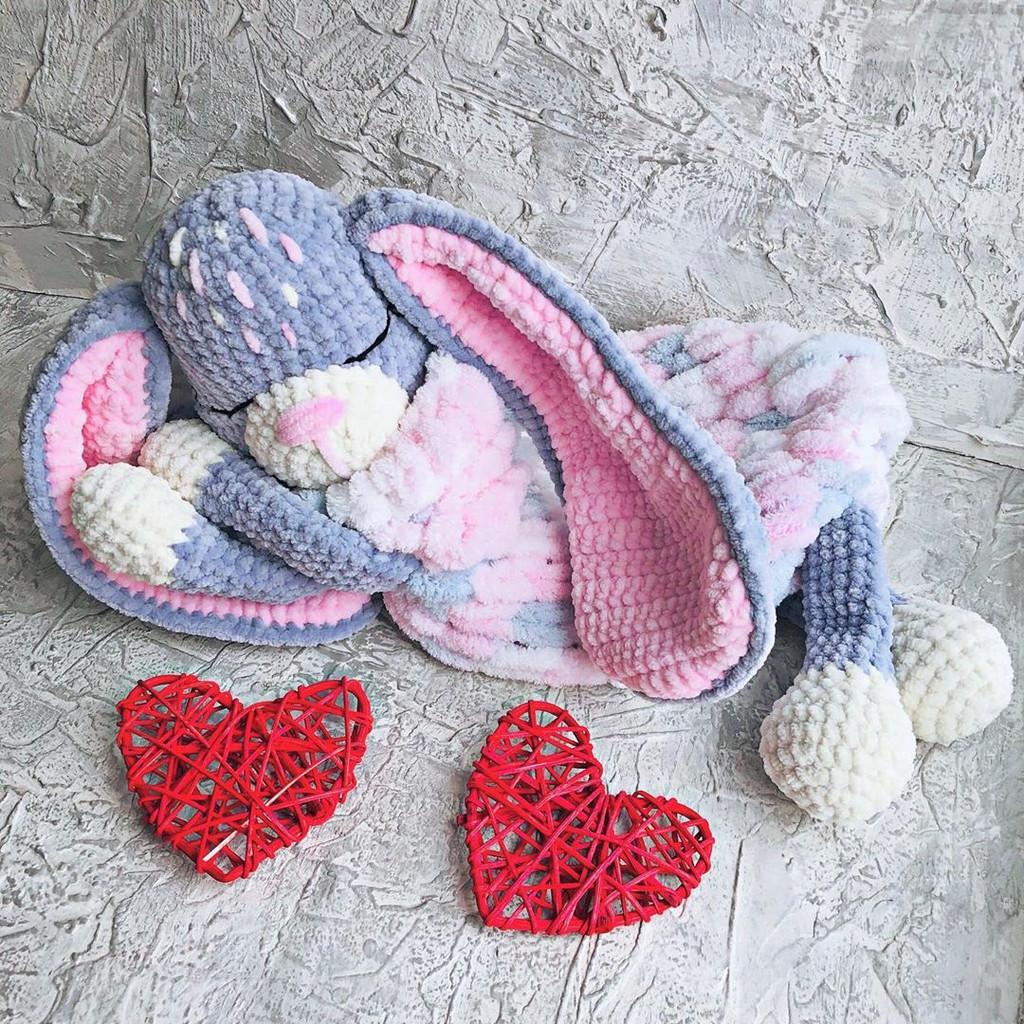 Зайка пижамница Стеша, фото, картинка, схема, описание, бесплатно, крючком, амигуруми