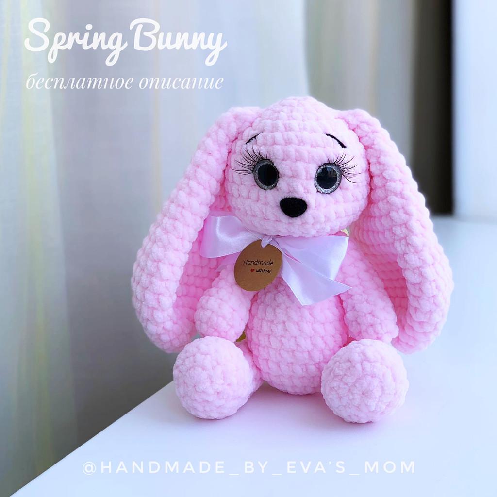 Зайка Spring Bunny, фото, картинка, схема, описание, бесплатно, крючком, амигуруми