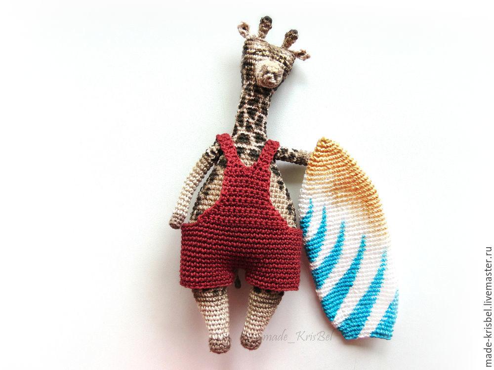 Жираф сёрфер, фото, картинка, схема, описание, бесплатно, крючком, амигуруми