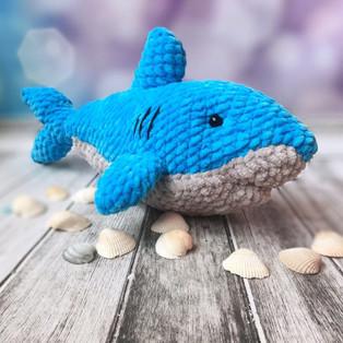 PDF Акулёнок схема вязаной игрушки крючком