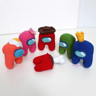 PDF Амонг Ас схема вязаной игрушки крючком