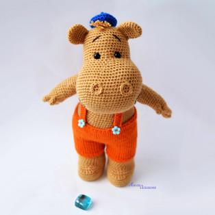 PDF Бегемотик Тима схема вязаной игрушки крючком