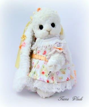 PDF Белый кролик схема вязаной игрушки крючком