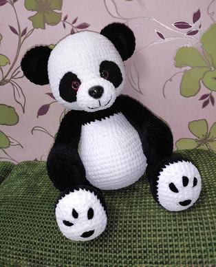 PDF Большая панда схема вязаной игрушки крючком