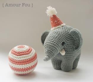 PDF Цирковой слон Густав схема вязаной игрушки крючком