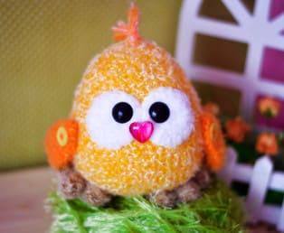 PDF Цыплёночек схема вязаной игрушки крючком
