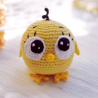PDF Цыплёнок схема вязаной игрушки крючком