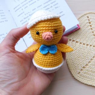 PDF Цыплёнок Малютка схема вязаной игрушки крючком