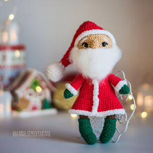 PDF Дед Мороз схема вязаной игрушки крючком