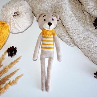 PDF Длинноногий медведь схема вязаной игрушки крючком