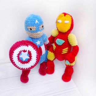 PDF Герои Marvel схема вязаной игрушки крючком