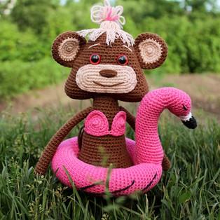 PDF Яна дитя джунглей схема вязаной игрушки крючком
