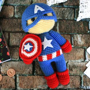 PDF Капитан Америка схема вязаной игрушки крючком