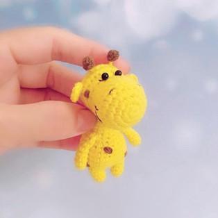 PDF Карманный жираф схема вязаной игрушки крючком