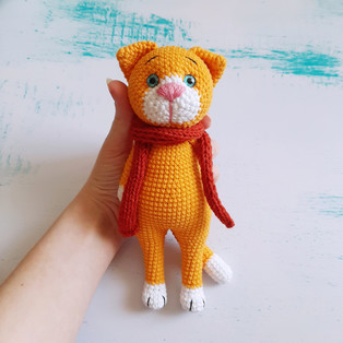 PDF Котик схема вязаной игрушки крючком
