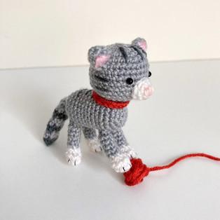 PDF Котёнок схема вязаной игрушки крючком